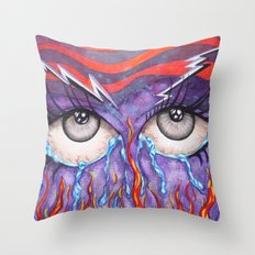 Expressive Eyes Throw Pillow