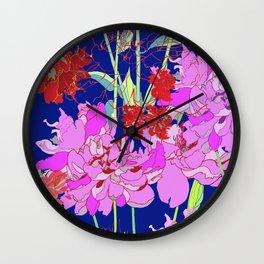 Oriental Bloom Wall Clock