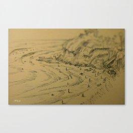 Swamis Sketch Canvas Print