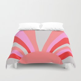 sunshine state, coral Duvet Cover
