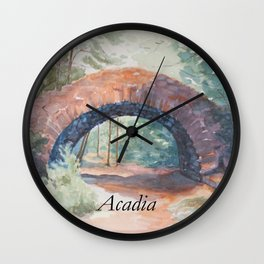 Stone Bridge - Acadia National Park Wall Clock