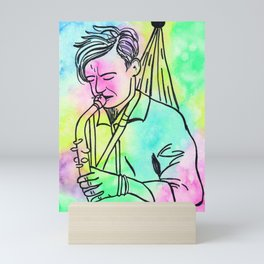 Play that Sax! Mini Art Print