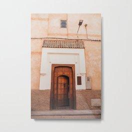 Moroccan door with the cutest roof! Metal Print