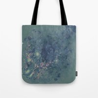 vintage floral Tote Bags featuring Vintage floral by nicky2342