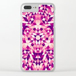 Triangle mandala 1 Clear iPhone Case
