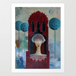 Lonely Bride Art Print