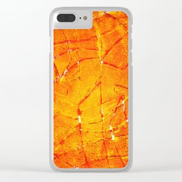 Vegetable Abstract Print Clear iPhone Case