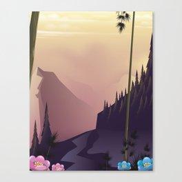 Woodland landscape. Canvas Print