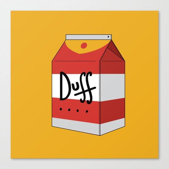 Duff in a box Canvas Print