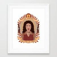 heymonster Framed Art Prints featuring Zoë Washburne by heymonster