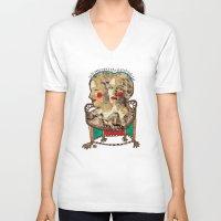 girls V-neck T-shirts featuring Girls by R. Gorkem Gul