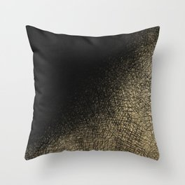 Modern abstract black gold watercolor brushstrokes Throw Pillow