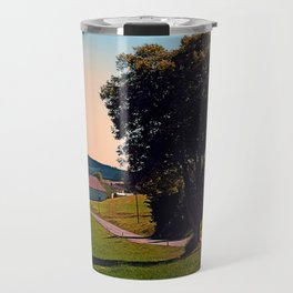 A tree, a road and summertime Travel Mug