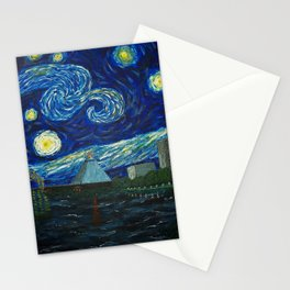 Dedication to Van Gogh: Memphis Starry Night Stationery Cards