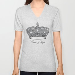 County of Kings | Brooklyn NYC Crown (GREY) Unisex V-Neck
