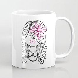 Pretty Hair Flower and Pearls Coffee Mug