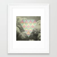 diamond Framed Art Prints featuring Diamond by Metron