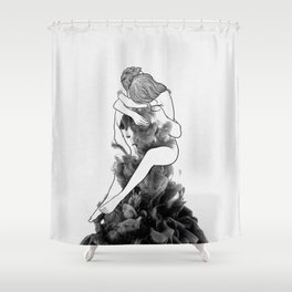 I find peace in your hug. Shower Curtain