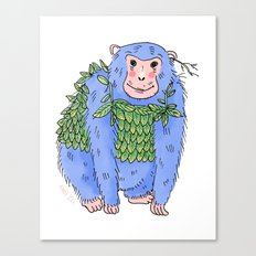 Peachtree The Chimp in Blue Canvas Print