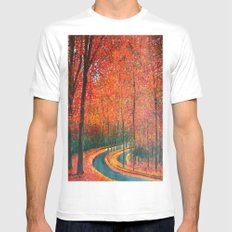 Beautiful colors of Autumn White Mens Fitted Tee MEDIUM