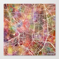 madrid Canvas Prints featuring Madrid by MapMapMaps.Watercolors