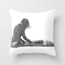 Jambinai - sitar Throw Pillow