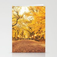 new york city Stationery Cards featuring New York City Autumn by Vivienne Gucwa
