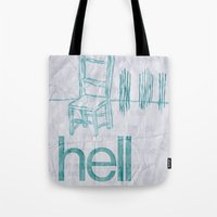 hell Tote Bags featuring hell by Josh LaFayette