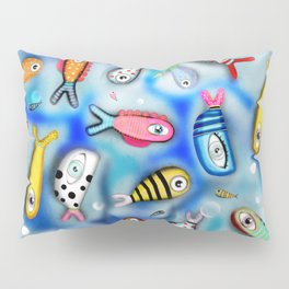 Fishes Ocean current Pillow Sham