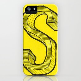 S Sketch iPhone Case