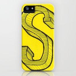 S Sketch iPhone Case