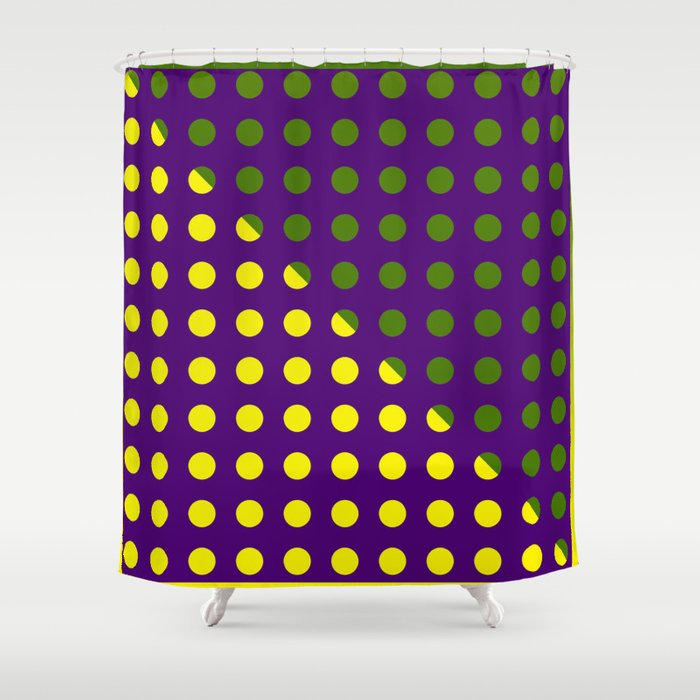 Mardi Gras Dots Shower Curtain