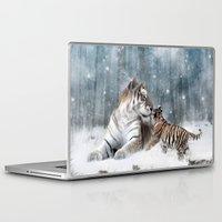 tigers Laptop & iPad Skins featuring Tigers by Julie Hoddinott