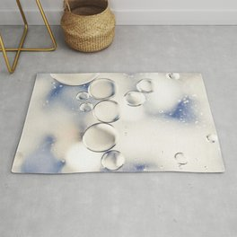 pearlescent water droplets Rug