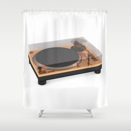 Golden Turntable Shower Curtain