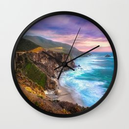 Big Sur Bixby Bridge Adventure Wall Clock