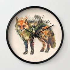 The Fox Nature Surrealism Wall Clock