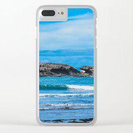 Blue Ocean Waves. Travel Photography. Clear iPhone Case