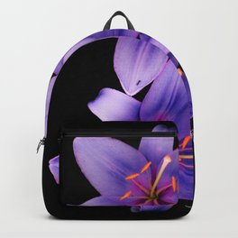 Beautiful Blue Ant Lilies, Flowers Scanography Backpack