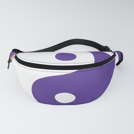 Yin and Yang - Purple & White Fanny Pack