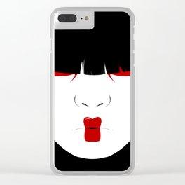 Modern Geisha #2 Clear iPhone Case