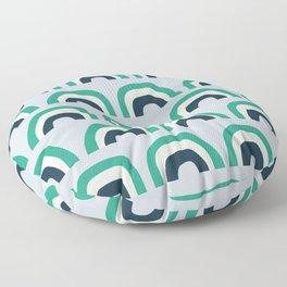 Abstract Playground Rainbow Floor Pillow