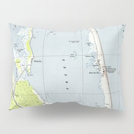 Vintage Northern Outer Banks Map (1940) Pillow Sham