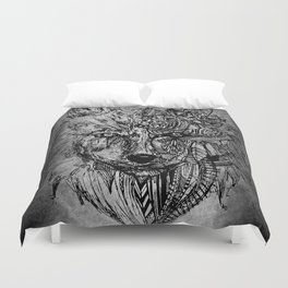 The Lotus Wolf Duvet Cover