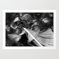 Do or Do not, there is no try  Art Print