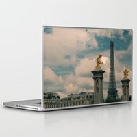 eiffel Laptop & iPad Skins featuring Eiffel by Esteban Calderón