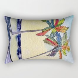 """Fruit Loop Palms"" Rectangular Pillow"