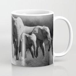 Elephants Shades Of Grey Coffee Mug