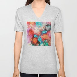 Ink colorful Unisex V-Neck