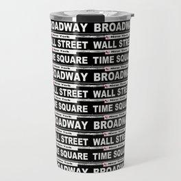 Street Sign Scenes of New York Travel Mug